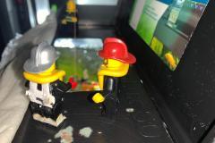 Exercice sauvetage par auto échelle